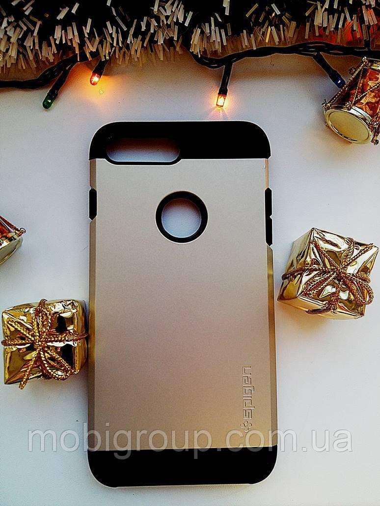 Чехол Spigen Slim Armor iPhone 8 Plus (HQ-копия), Black