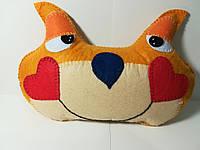 Подушка игрушка антистресс Влюбленный Котик, Hand Made ручная работа, размер 28*20 см