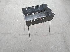 Мангал разборной чемодан на 10 шампуров 2мм