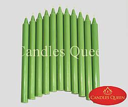 Свеча столовая зеленая темн. 240х20 мм