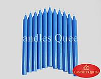 Свеча столовая синяя 240х20 мм, фото 1