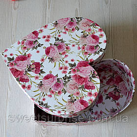 Подарочная коробка на 14 февраля (розы)