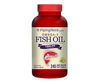 PipingRock Omega 3 Fish Oil 1000 mg 240 softgels