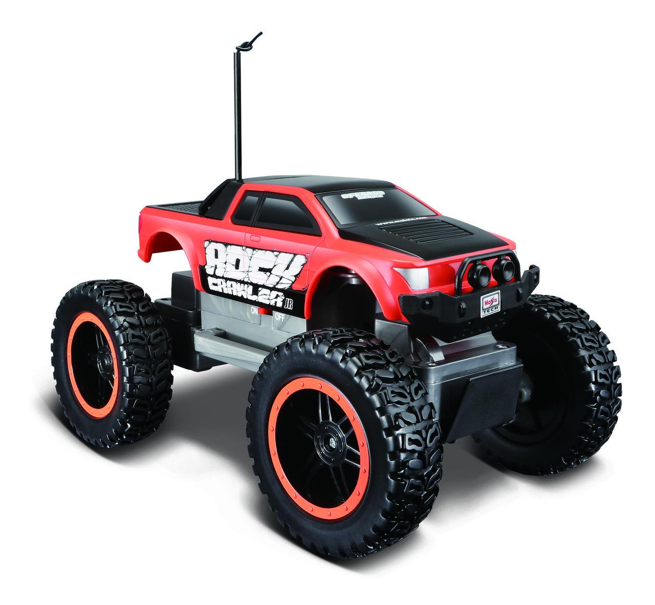 Автомодель на р/к Rock Crawler Jr. (батарейки в компл.), красно-чёрный