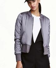 Куртка бомбер женская  (серебро)