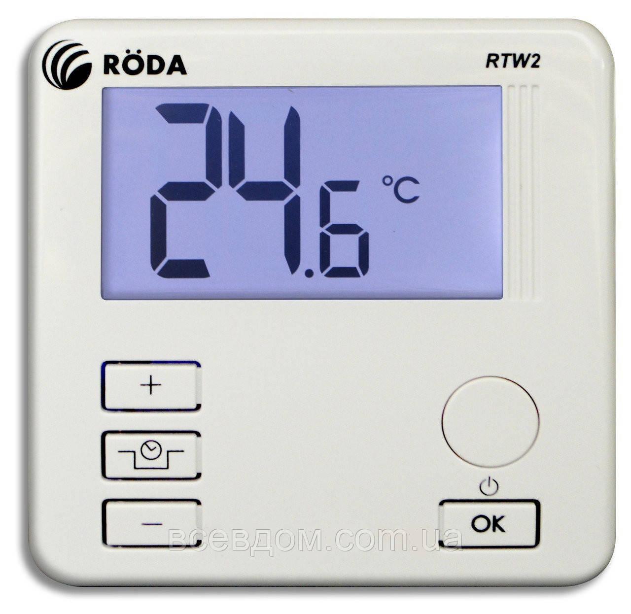 Комнатный термостат RODA RTW2 проводной суточный