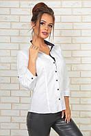 Классическая рубашка женская на пуговицах