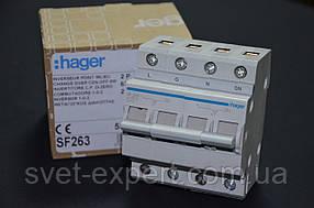 Перемикач введення резерву, 250В / 63A, 1 + N Хагер SF263