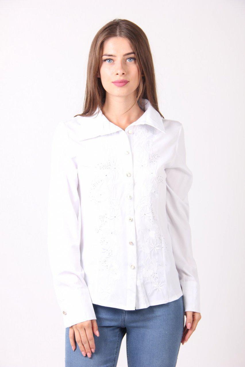 293391665b6 Классическая белая женская блуза в деловом стиле размер  S M