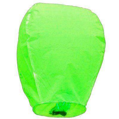 Китайский летающий фонарик зеленый 110 см