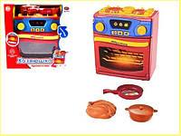 Детская газовая плита со звуковыми и световыми эффектами в наборе со сковородой и кастрюлей