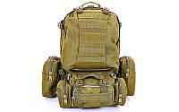 Рюкзак  тактика рейдовый (50х34х15см) 55 л олива