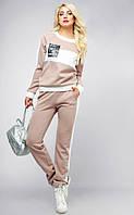 Спортивный костюм Кавалли норма бежевый, фото 1
