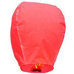Китайский летающий фонарик красный 110 см