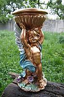 Статуэтка Ангел с чашей №1 бранза/цвет