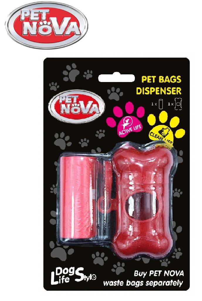 Контейнер с пакетами Pet Nova для уборки за собакой