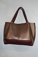 Комбинированная женская модная сумка B.Elit бронза