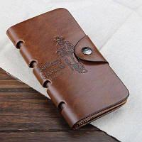 Мужской клатч, портмоне с отделениями для кредиток и визиток `BAILINI`