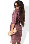 Трикотажное платье меланж с поясом Д-525, фото 2