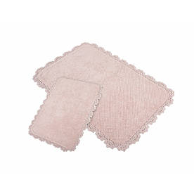 Набор ковриков для ванной Irya - Serra pembe розовый 60*90+40*60