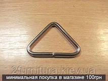 Треугольники для сумок (33мм) никель, 20шт 4362