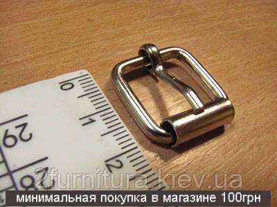 Пряжки для сумок (16мм) никель, 20шт 4127