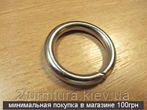 Кольца для сумок (20мм) никель, 10шт 4341