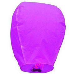 Китайский летающий фонарик фиолетовый 110 см