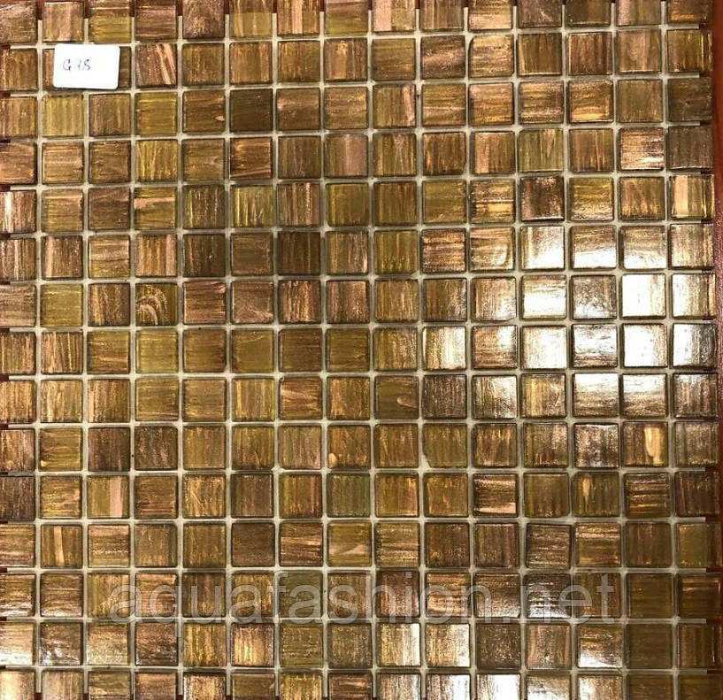 Мозаїка з авантюрином коричнева Vivacer G18