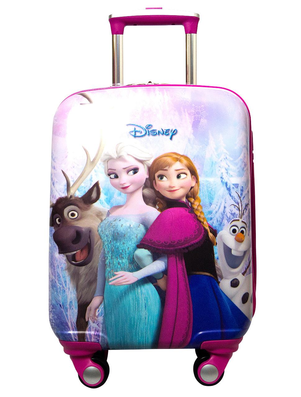 d288f7d432c6 Детский пластиковый чемодан Дисней Холодное сердце Эльза Disney Frozen Elsa  - Интернет магазин