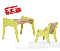 Комплект детской деревянной мебели парта и стульчик ТМ FunDesk OMINO Green