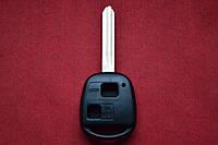 Корпус ключа Toyota Prado 120, Corolla 2 кнопки лезвие Toy43