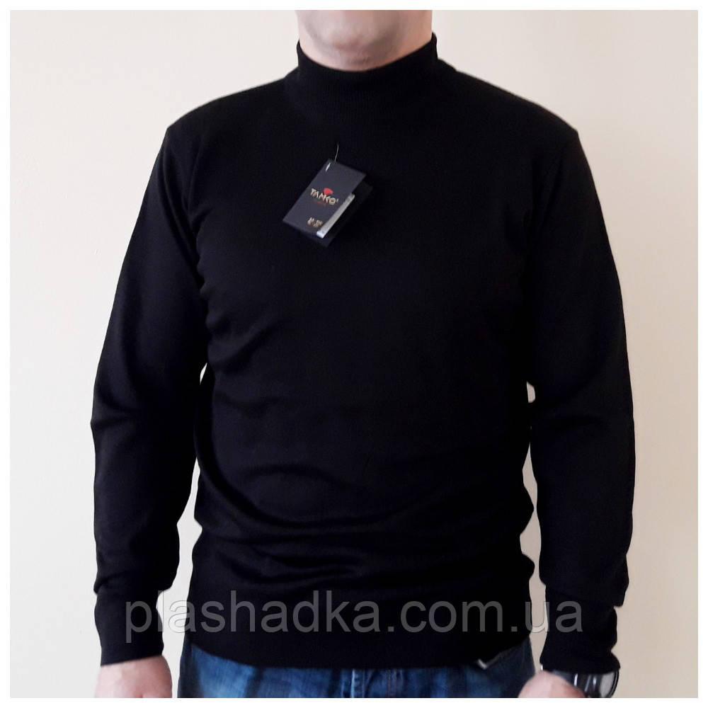 Мужской свитер гольф под горло с воротником стойка. черный, Турция