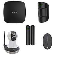 Комплект сигнализации Ajax StarterKit black + IP-видеокамера AI-361
