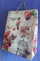 Пакет бумажный подарочный Гигант 30х39х17 см