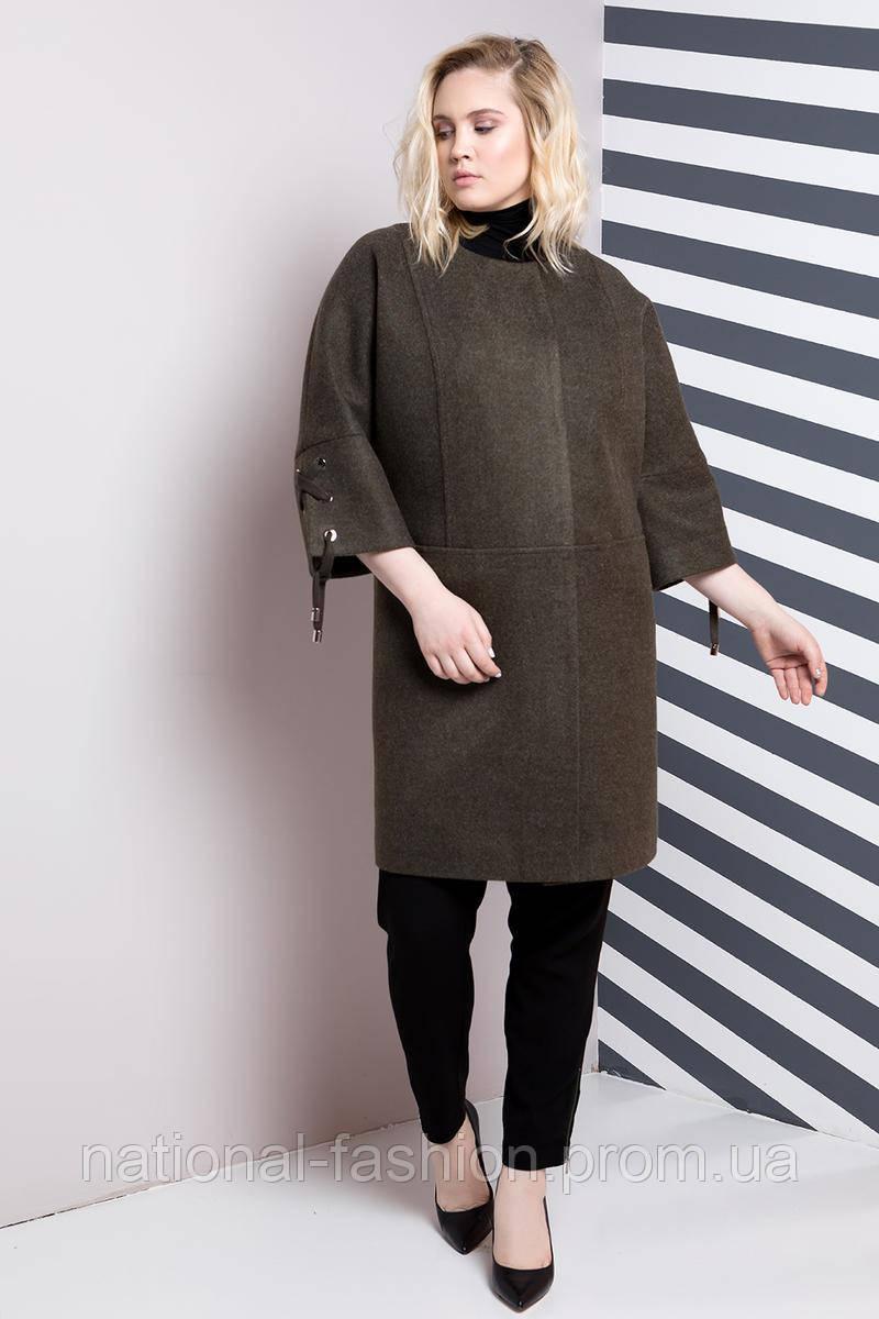 Демисезонное женское пальто oversize №621 (р.54)