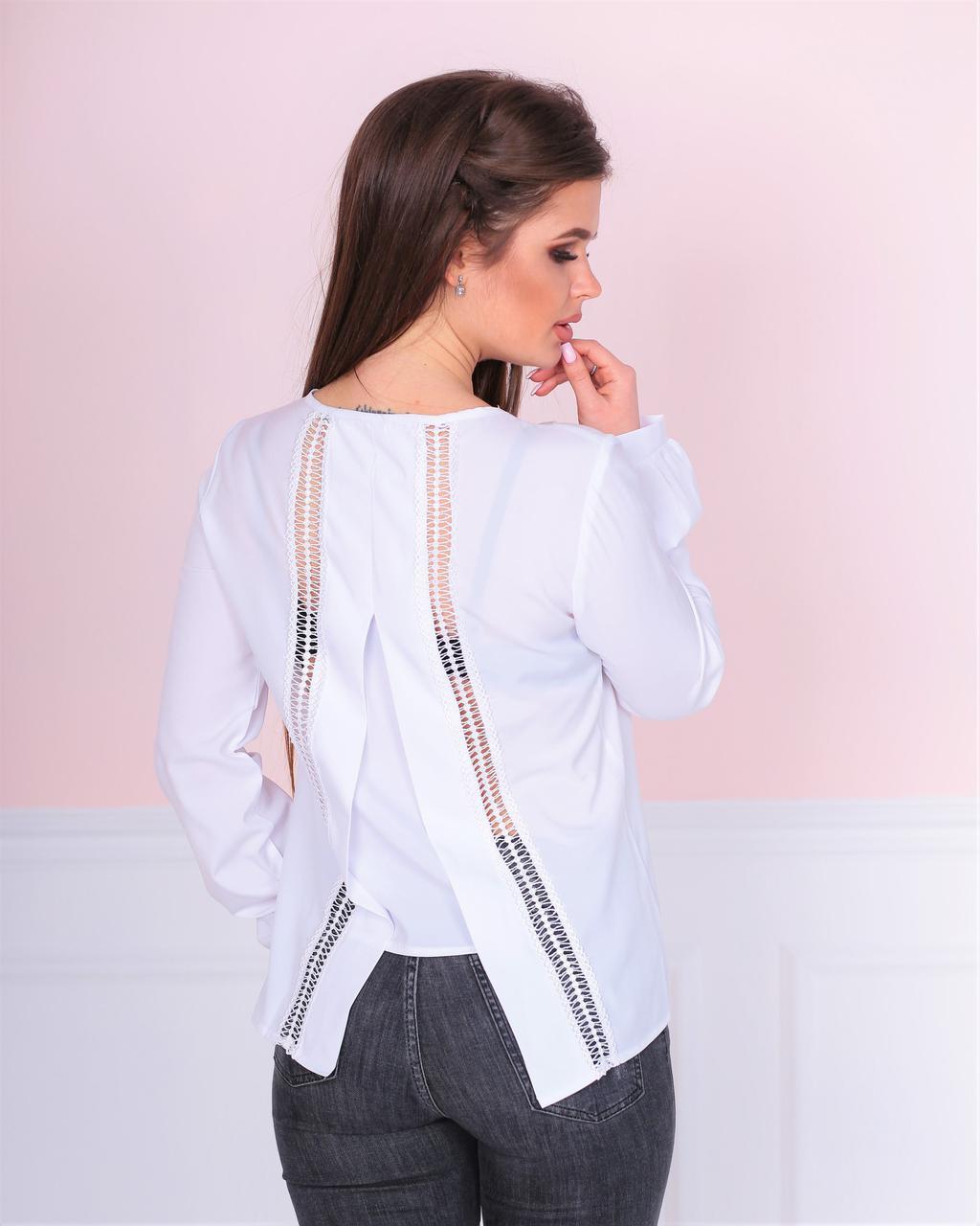 6f4f9f2a9ec Асимметрическая блузка с кружевными вставками - Интернет-магазин одежды