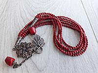 """Ожерелье """"Любимые кораллы"""", фото 1"""
