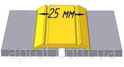 """Алюмінієвий поріг (ширина 25 мм), анодований """"Срібло"""""""