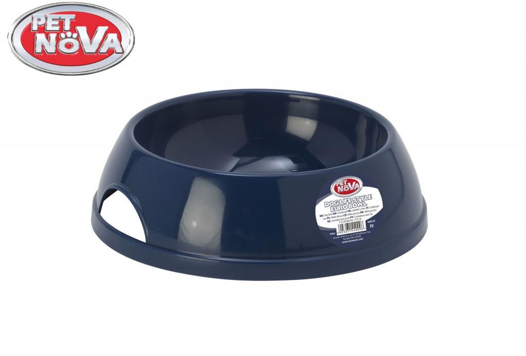 Пластикова Миска для собак Pet Nova 470 мл Синя