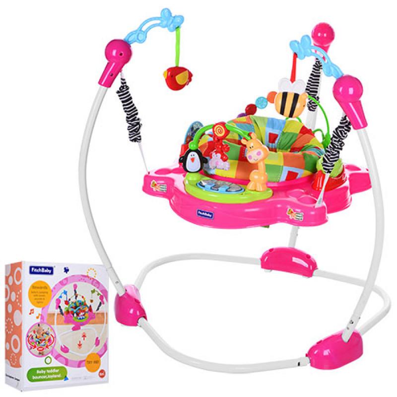 Мягкое кресло-прыгун (розовый), 8913-8