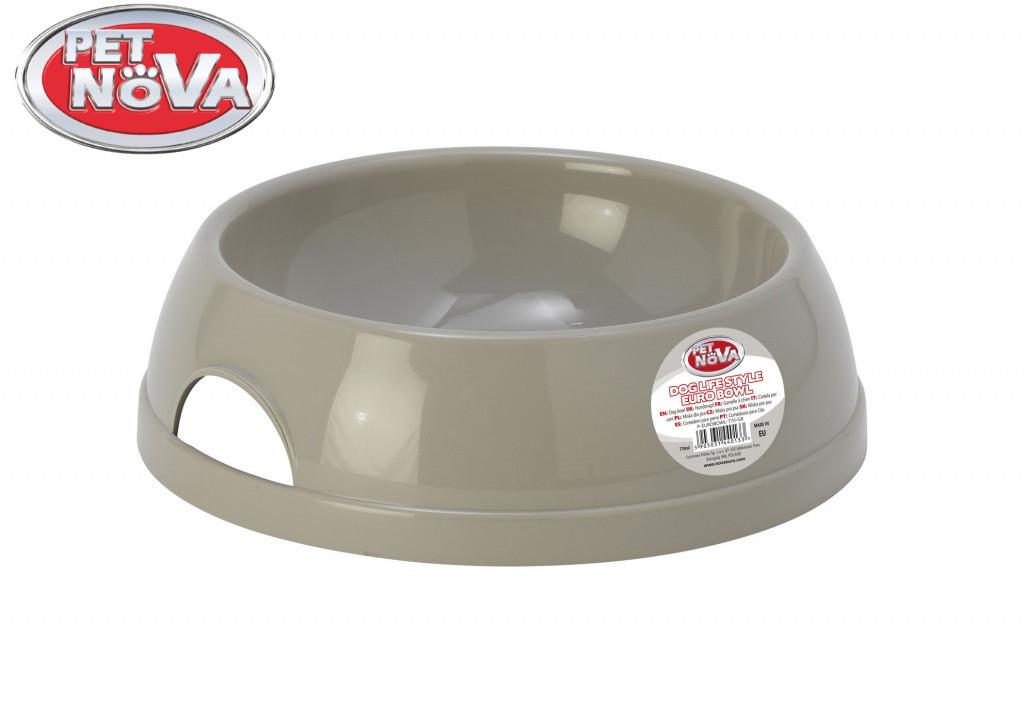 Пластикова Миска для собак Pet Nova 770 мл Сіра