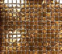 Мозаика для ванной с авантюрином коричневая Vivacer G19