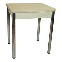 Стол раскладной Овале 60 см х 70 см (120смх70см) овальный ноги металл хром