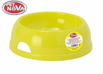 Миска пластиковая для собак Pet Nova 1450 мл Желтая
