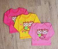 Кофта на девочек от 0 месяц до 3 лет ( разные цвета и рисунки)