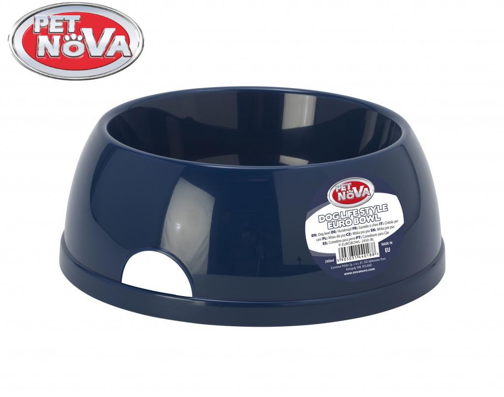 Пластикова Миска для собак Pet Nova 2.5 л Синя