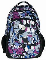 Рюкзак городской с принтом Paso 21л. 16-699PA (мужской рюкзак, портфель, школьные рюкзаки, рюкзак женский)