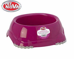 Миска нескользящая для собак Pet Nova 315 мл Розовая