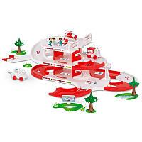 """Скорая помощь Игровой набор, длина дороги 4,8 м, в наборе 2 автомобиля, 1 вертолет, """"Kid Cars 3D"""", ТМ Wader"""